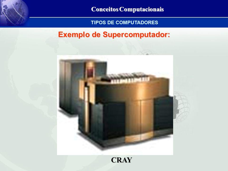 Conceitos Computacionais Exemplo de Supercomputador: CRAY TIPOS DE COMPUTADORES