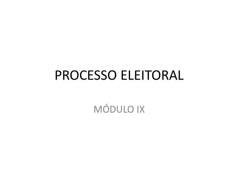 PROCESSO ELEITORAL MÓDULO IX