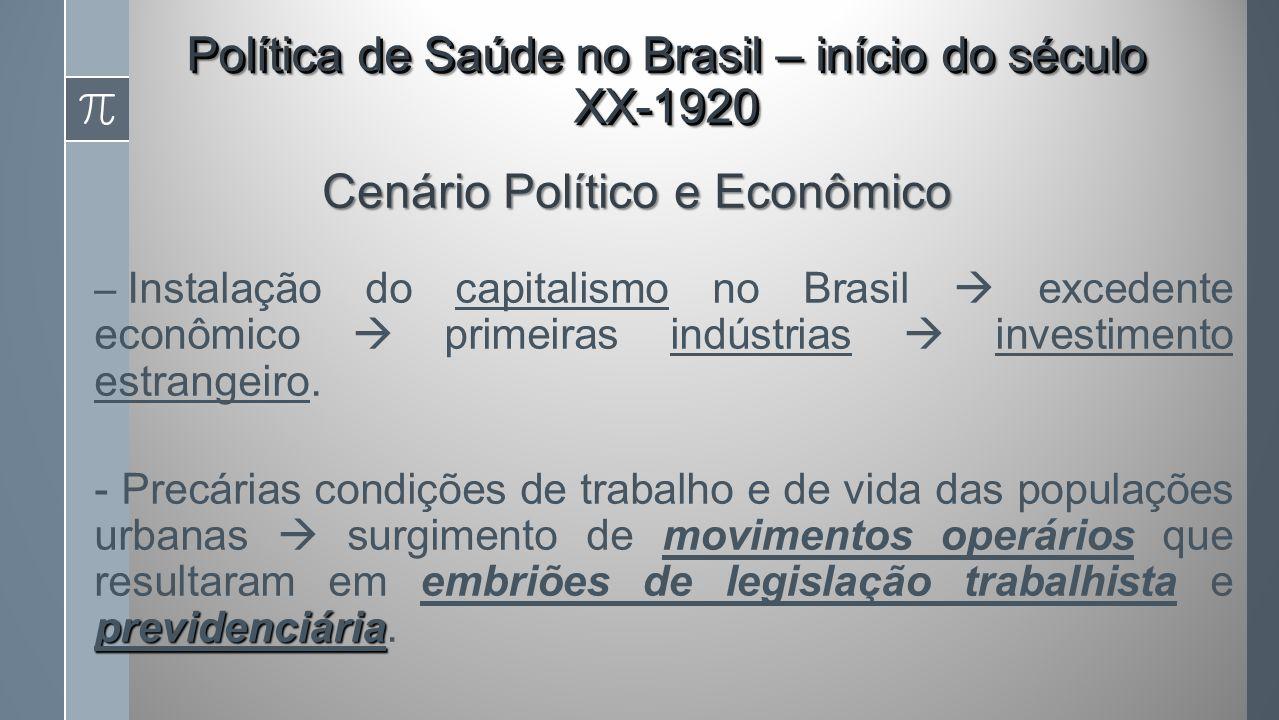 – Instalação do capitalismo no Brasil excedente econômico primeiras indústrias investimento estrangeiro.