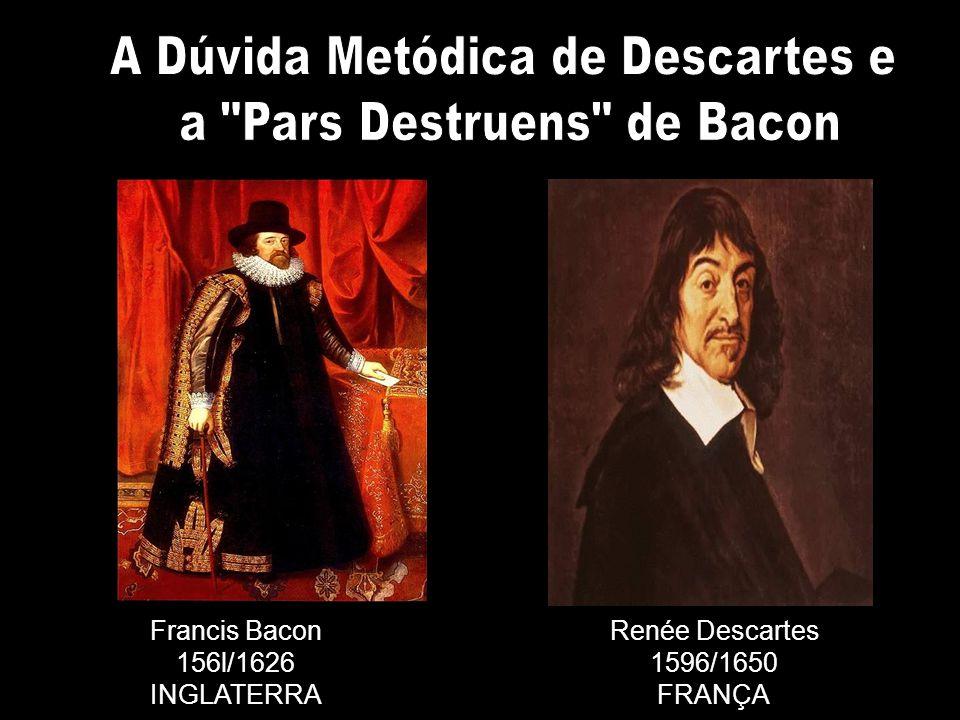 Francis Bacon 156l/1626 INGLATERRA Renée Descartes 1596/1650 FRANÇA