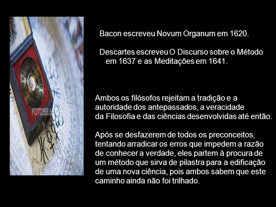 Bacon escreveu Novum Organum em 1620.