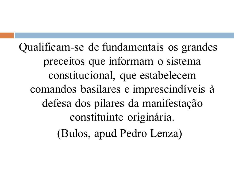 Qualificam-se de fundamentais os grandes preceitos que informam o sistema constitucional, que estabelecem comandos basilares e imprescindíveis à defes