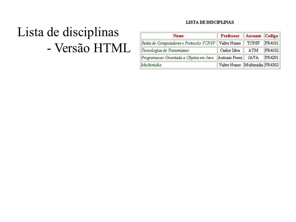 - Versão HTML