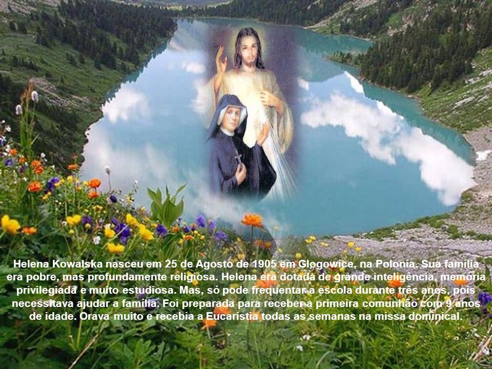 O artista - pintor Edmundo Kazimierowski - pinta a imagem Jesus, eu confio em vós , de acordo com as indicações de Ir.