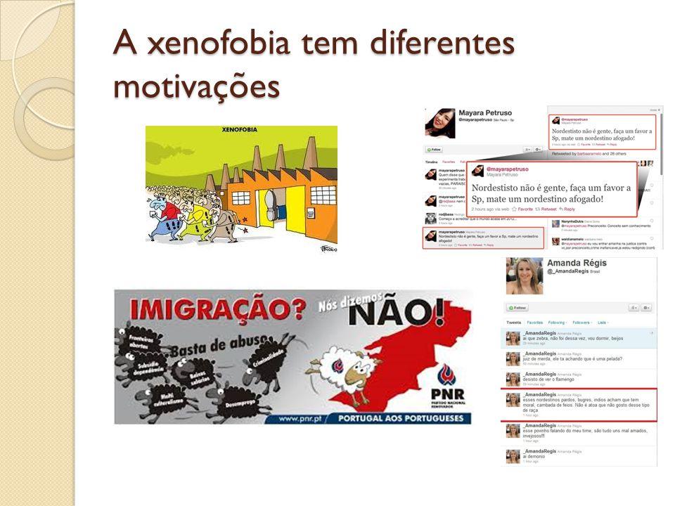 A xenofobia tem diferentes motivações