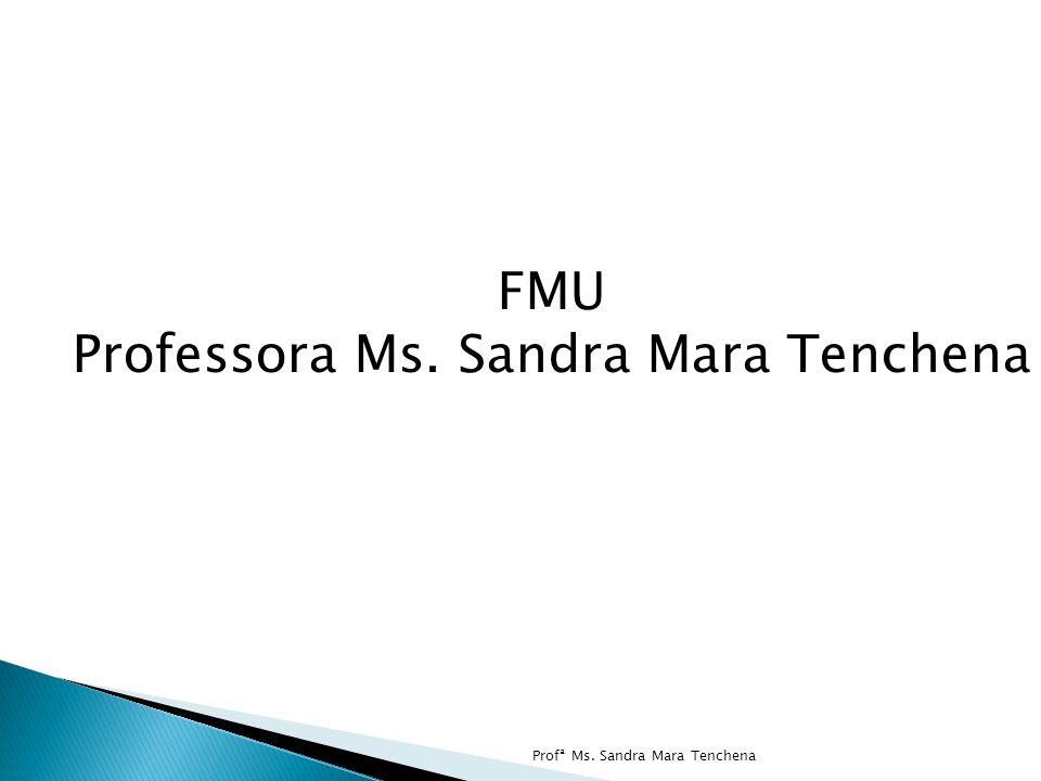 Profª Ms. Sandra Mara Tenchena FMU Professora Ms. Sandra Mara Tenchena