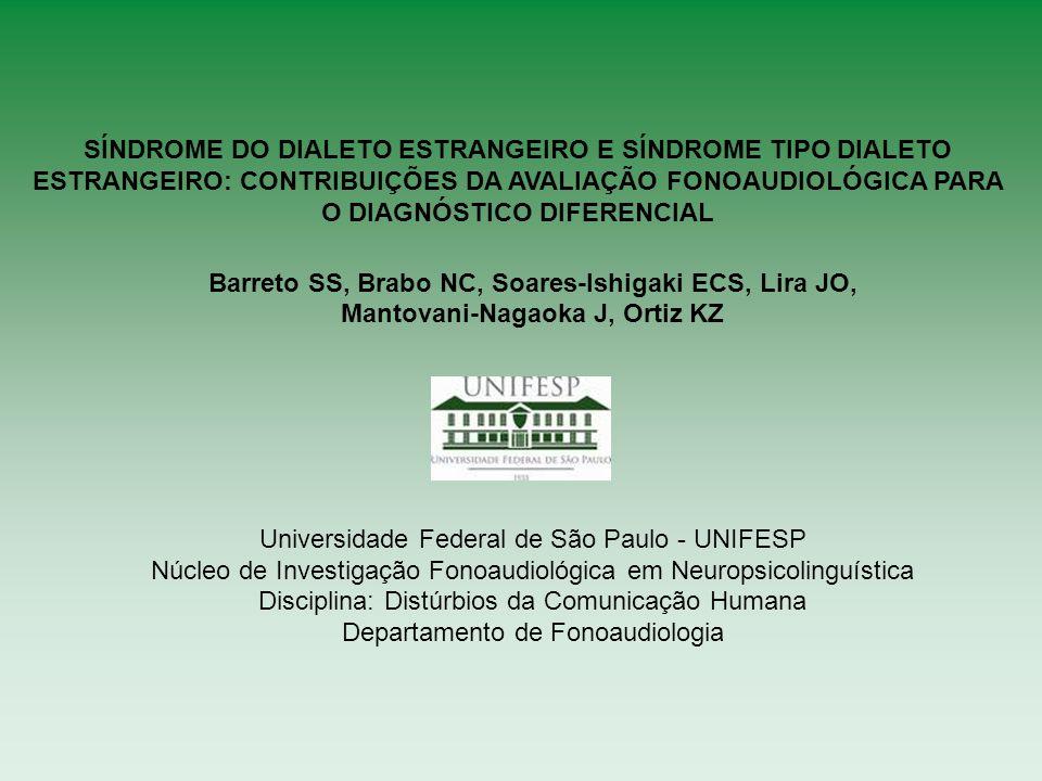 Objetivo: Descrever e comparar dois casos desta síndrome em falantes nativos do português brasileiro, em sua forma clássica (SDE) e em sua variante psiquiátrica (STDE).