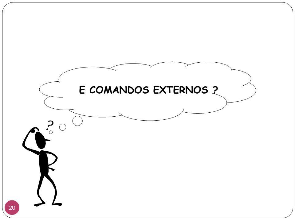 E COMANDOS EXTERNOS ? 20