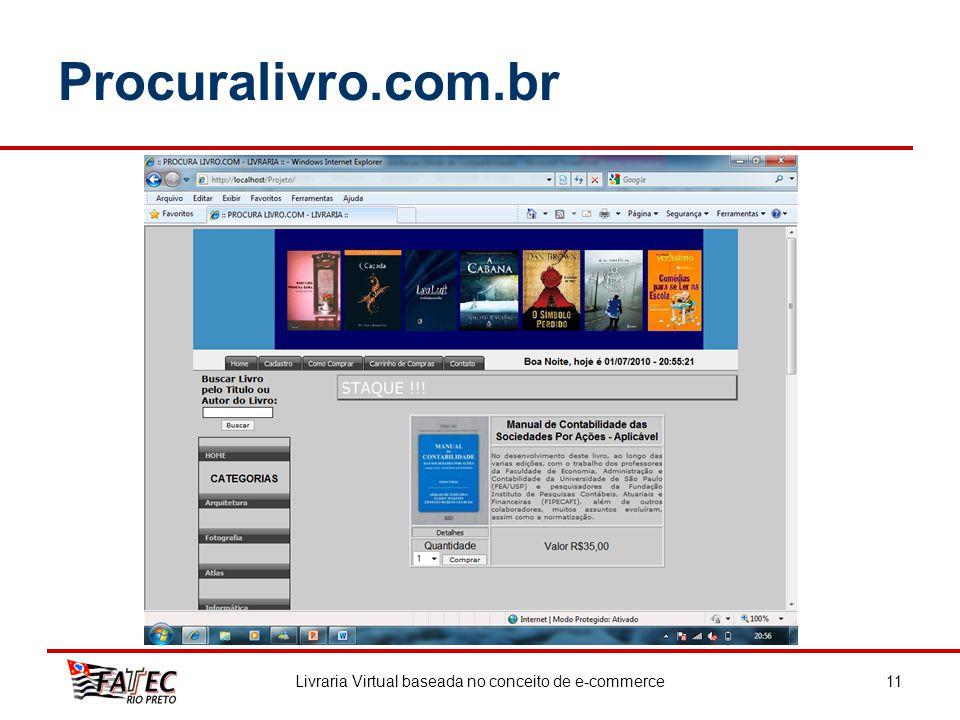 Procuralivro.com.br Livraria Virtual baseada no conceito de e-commerce11
