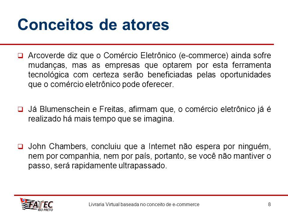 Conceitos de atores Arcoverde diz que o Comércio Eletrônico (e-commerce) ainda sofre mudanças, mas as empresas que optarem por esta ferramenta tecnoló