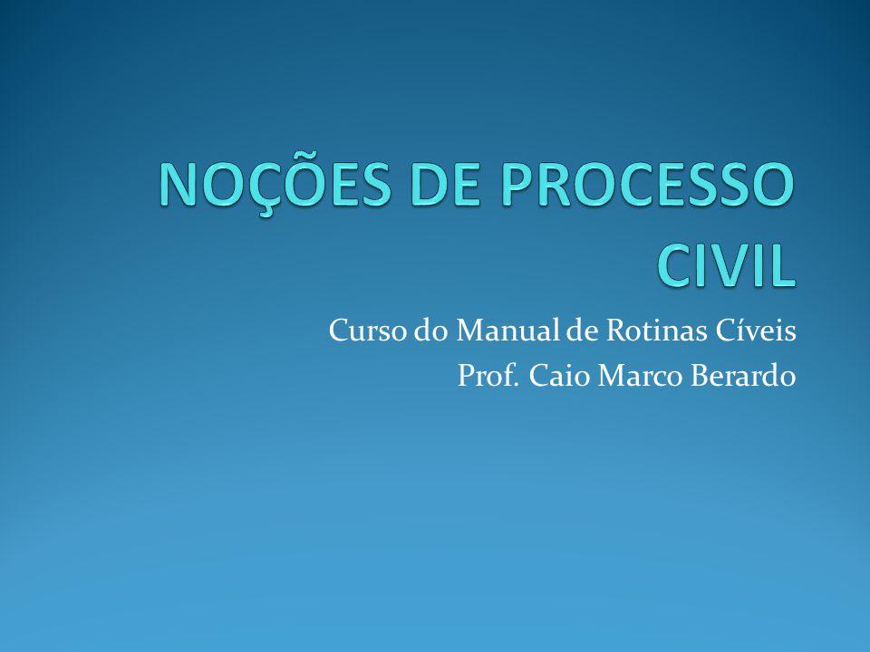 Curso do Manual de Rotinas Cíveis Prof. Caio Marco Berardo