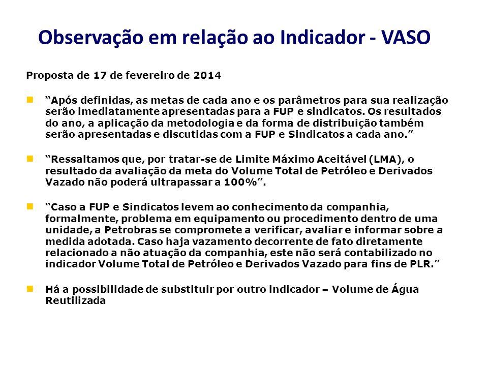 Proposta de 17 de fevereiro de 2014 Após definidas, as metas de cada ano e os parâmetros para sua realização serão imediatamente apresentadas para a F
