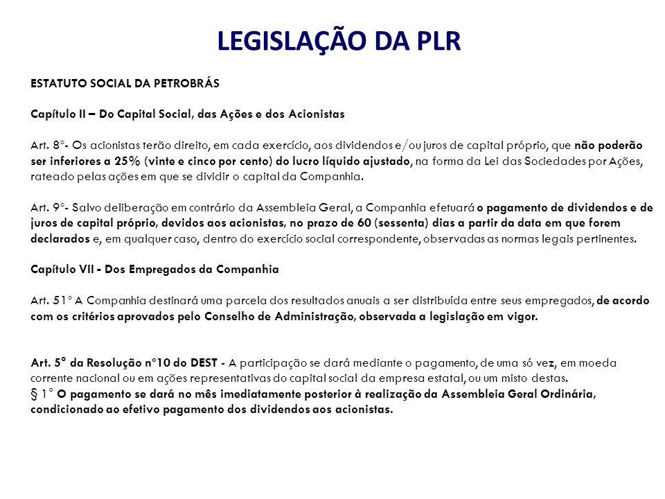 Metas e Montante (proposta de 17/02/14) PROPOSTA PETROBRÁS % cumprimento global de metas % de LL do Sistema Petrobras X>=120%7,2500 110%<=x<120%6,7500 100%<=x<110%6,2500 99%<=x<100%6,1875 98%<=x<99%6,1250 97%<=x<98%6,0625 96%<=x<97%6,0000 95%<=x<96%5,9375 90%<=x<95%5,5000 80%<=x<90%4,5000 Observações: Sempre determinado pela empresa e depois negociação com a FUP – agora maior transparência Menor montante passa a ser o valor médio da história da PLR – 4,5%; Diferença entre LL Sistema e LL Antes das Participações (antes das participações) LL+PLR-não cotroladores = LL Antes das Participações