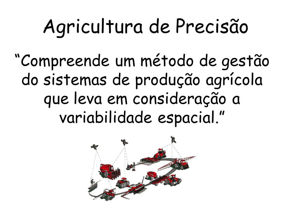 Compreende um método de gestão do sistemas de produção agrícola que leva em consideração a variabilidade espacial. Agricultura de Precisão