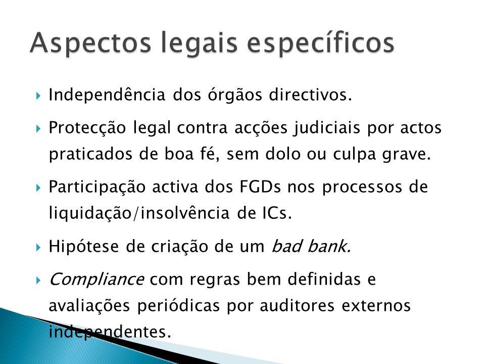 Independência dos órgãos directivos. Protecção legal contra acções judiciais por actos praticados de boa fé, sem dolo ou culpa grave. Participação act