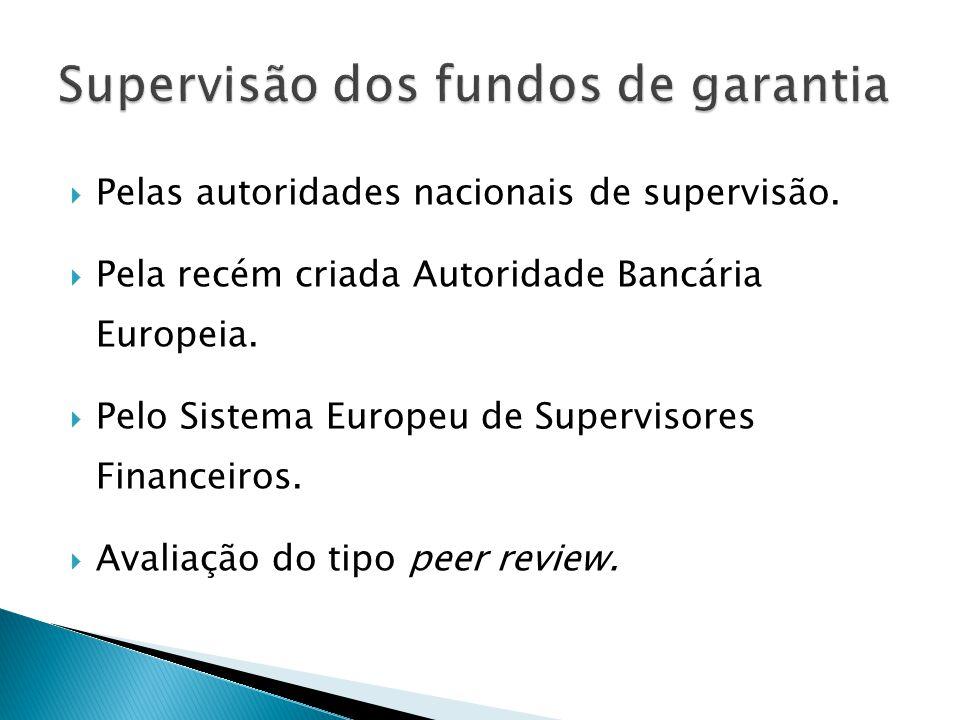 Pelas autoridades nacionais de supervisão. Pela recém criada Autoridade Bancária Europeia. Pelo Sistema Europeu de Supervisores Financeiros. Avaliação