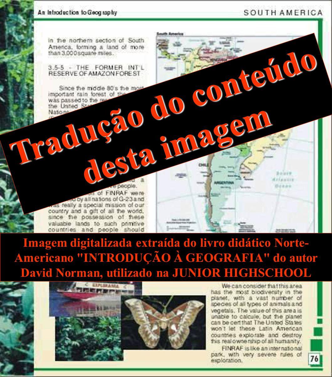 Tradução do conteúdo desta imagem Imagem digitalizada extraída do livro didático Norte- Americano