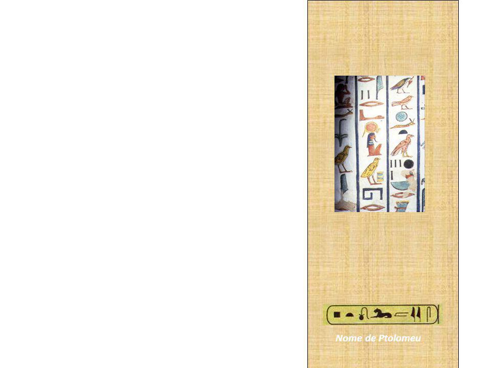 Para representar sentimentos, como ódio ou amor, ou ações como amar e sofrer, os egípcios desenhavam objetos cujas palavras que os designavam tinham sons semelhantes aos das palavras que os hieróglifos se referiam a algo concreto, havia um sinal vertical ao lado de cada figura.