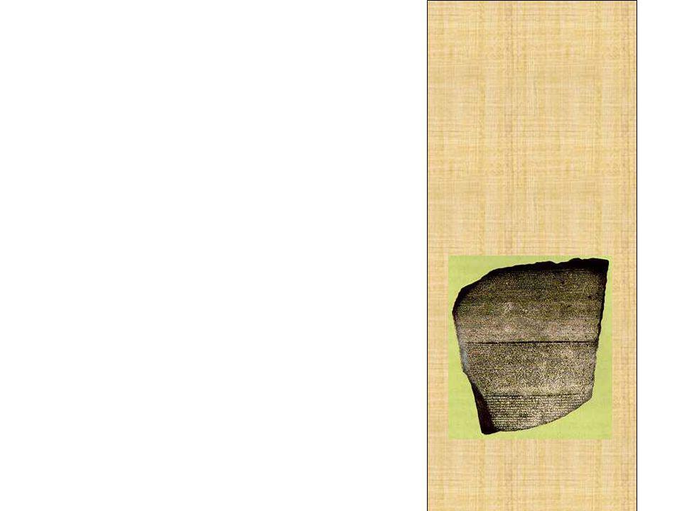 Quatorze anos depois, o professor dispunha de algumas chaves para entender o enigma: enfim, a pedra da Roseta e as inscrições de outros monumentos egípcios já não continuam mais em segredo.