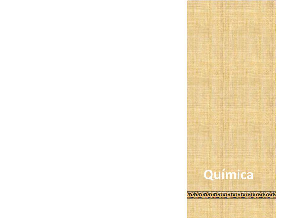 Na química, a manipulação de substâncias químicas (arsênio, cobre, petróleo, alabrastro, sal, sílex moído) surgiu no Egito e deu origem a fabricação de diversos remédios e composições simples.