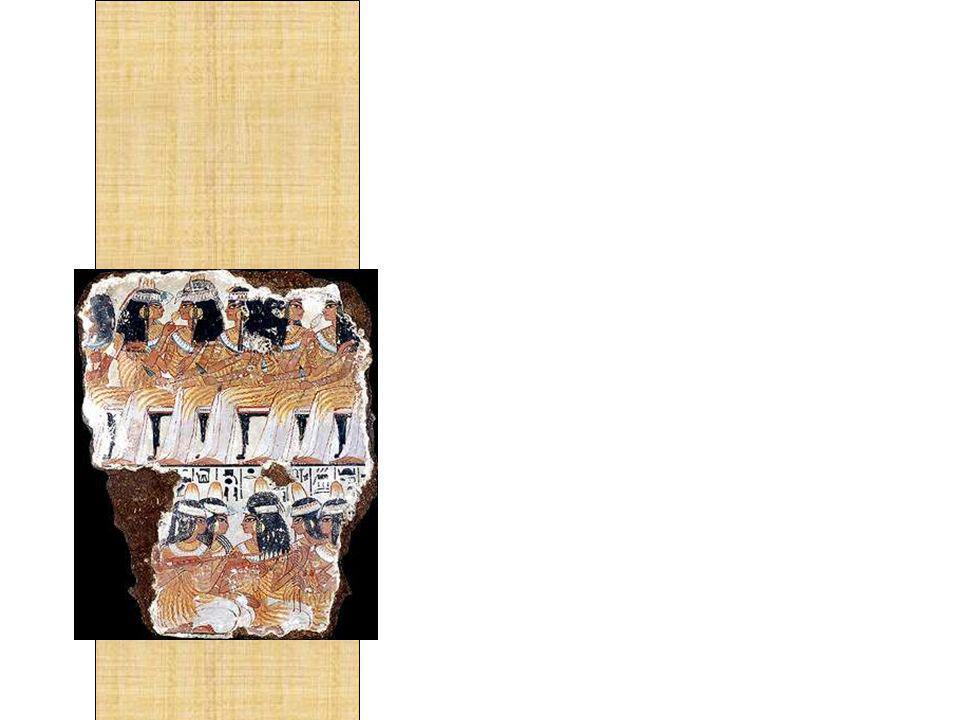 A primeira grande cultura a infundir a música em sua sociedade foi o Egito Antigo.
