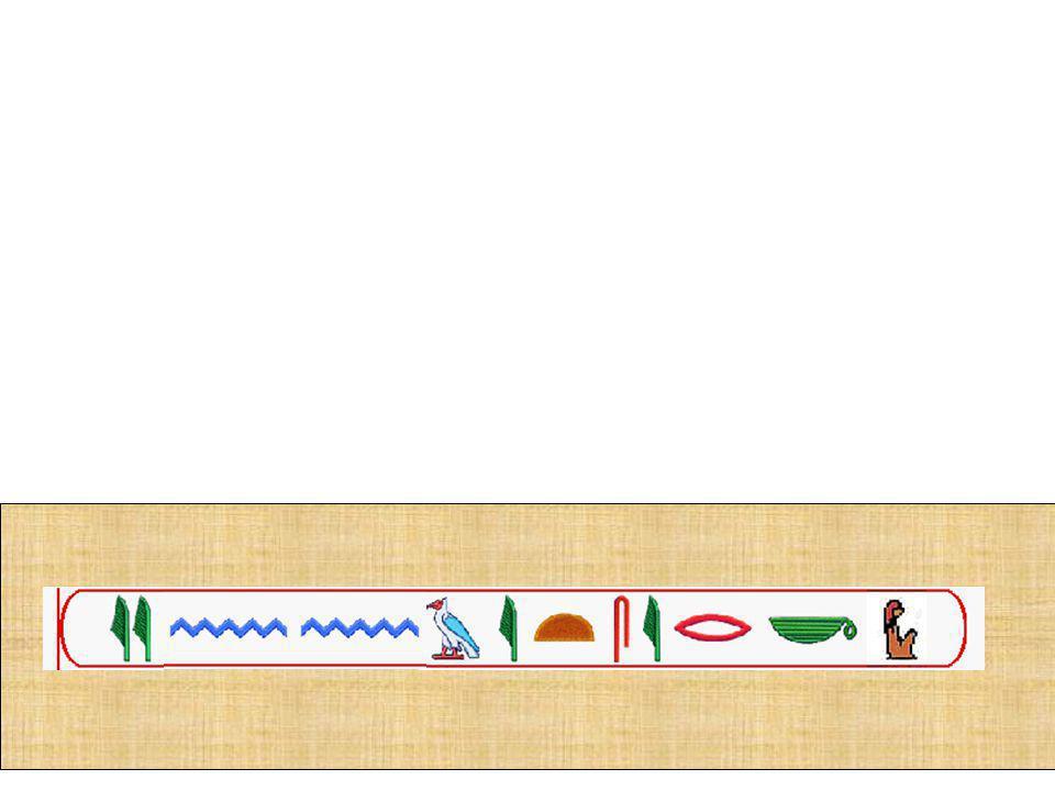 A evolução da escrita em hieróglifos mais simples, a chamada escrita hierática, determinou na pintura uma evolução semelhante, traduzida em um processo de abstração.
