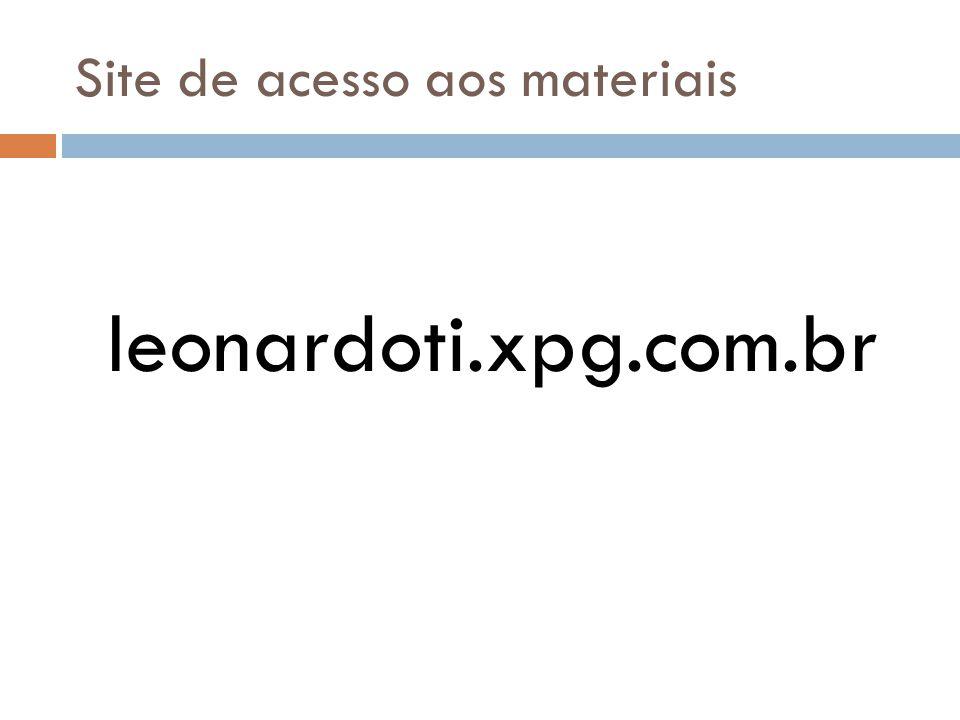 Site de acesso aos materiais leonardoti.xpg.com.br