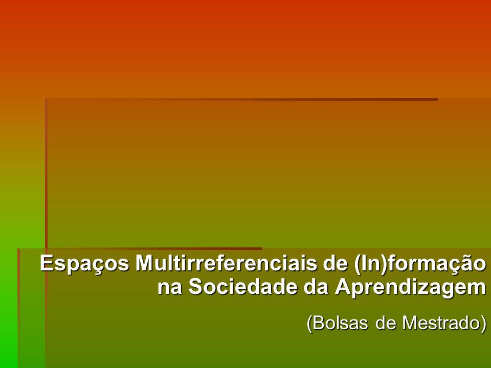 Espaços Multirreferenciais de (In)formação na Sociedade da Aprendizagem (Bolsas de Mestrado)