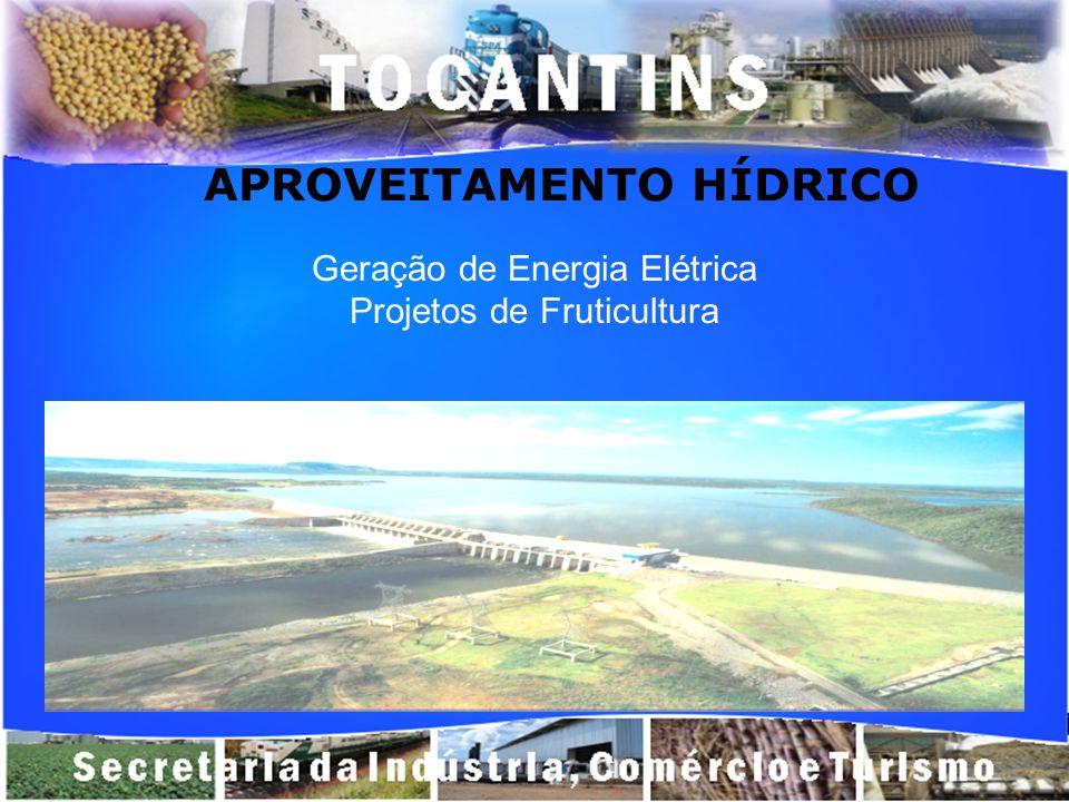 APROVEITAMENTO HÍDRICO Geração de Energia Elétrica Projetos de Fruticultura