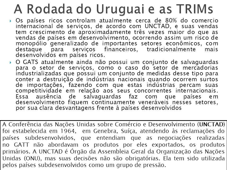 Os chamados TRIMs são acordos sobre investimentos formulados na OMC.