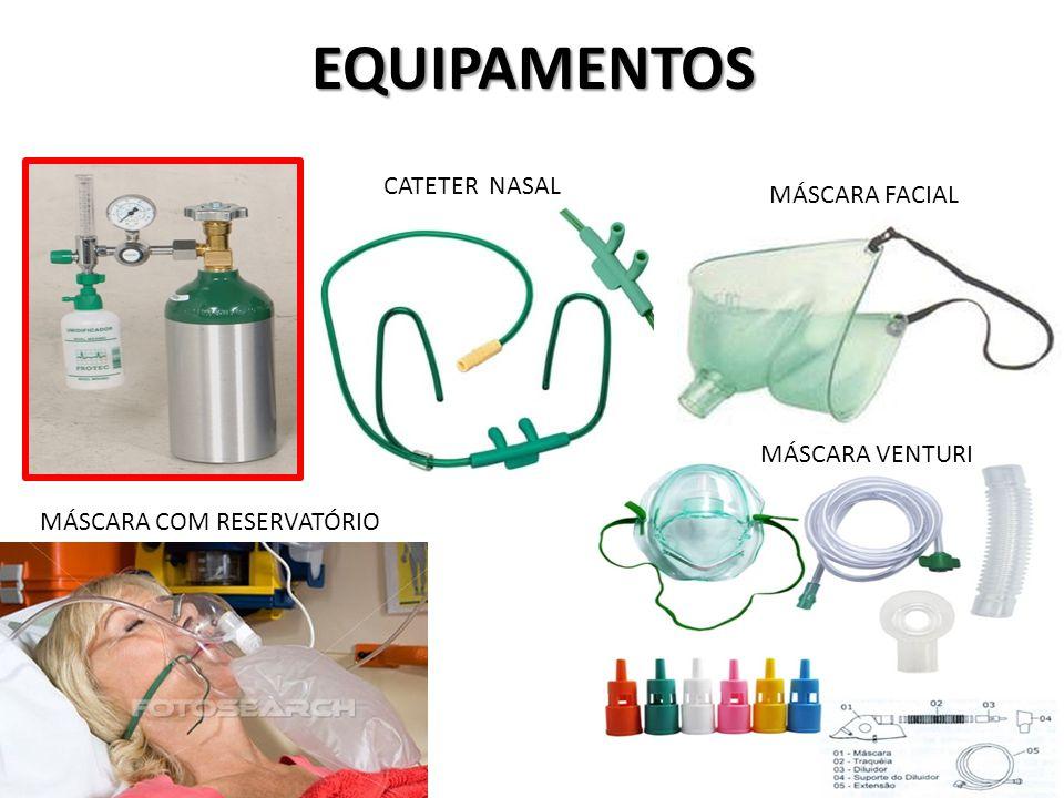 EQUIPAMENTOS CATETER NASAL MÁSCARA FACIAL MÁSCARA COM RESERVATÓRIO MÁSCARA VENTURI