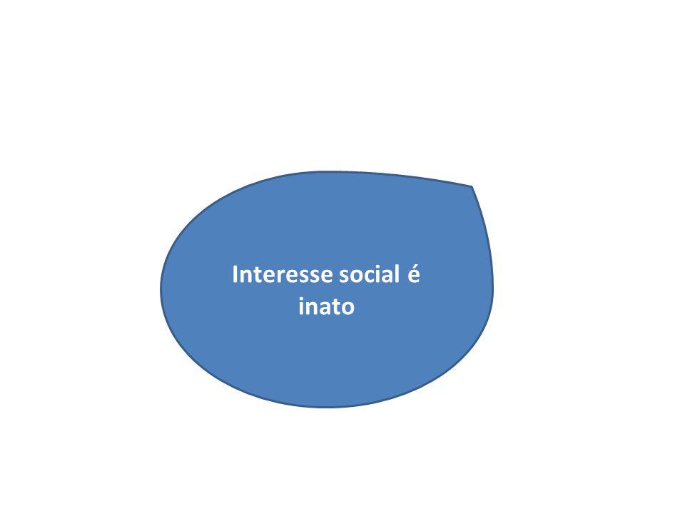 Interesse social é inato