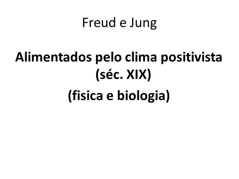 Freud e Jung Alimentados pelo clima positivista (séc. XIX) (fisica e biologia)