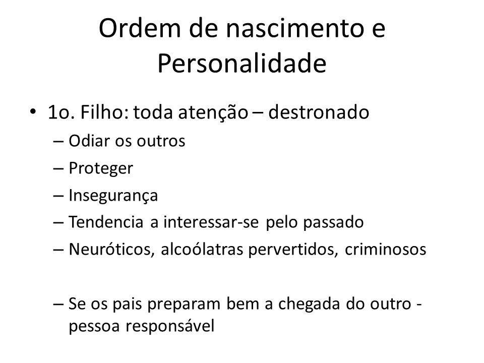Ordem de nascimento e Personalidade 1o.