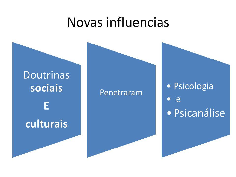 Novas influencias Doutrinas sociais E culturais Penetraram Psicologia e Psicanális e