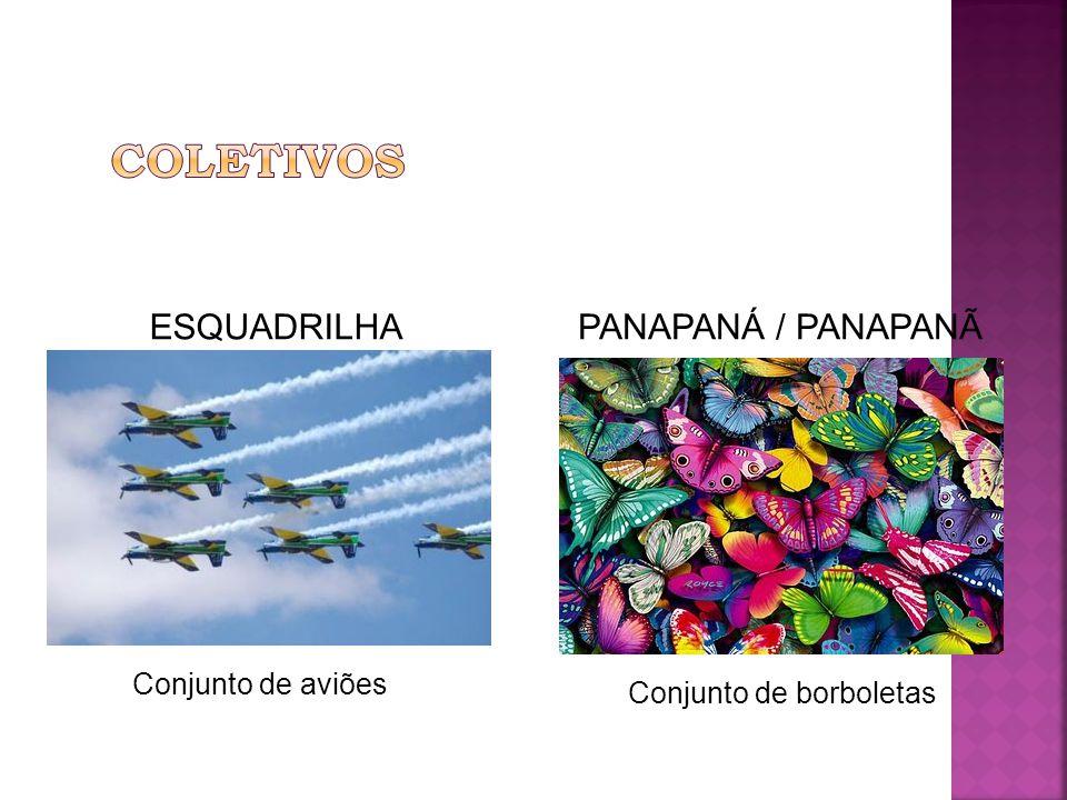 ESQUADRILHA Conjunto de aviões PANAPANÁ / PANAPANÃ Conjunto de borboletas