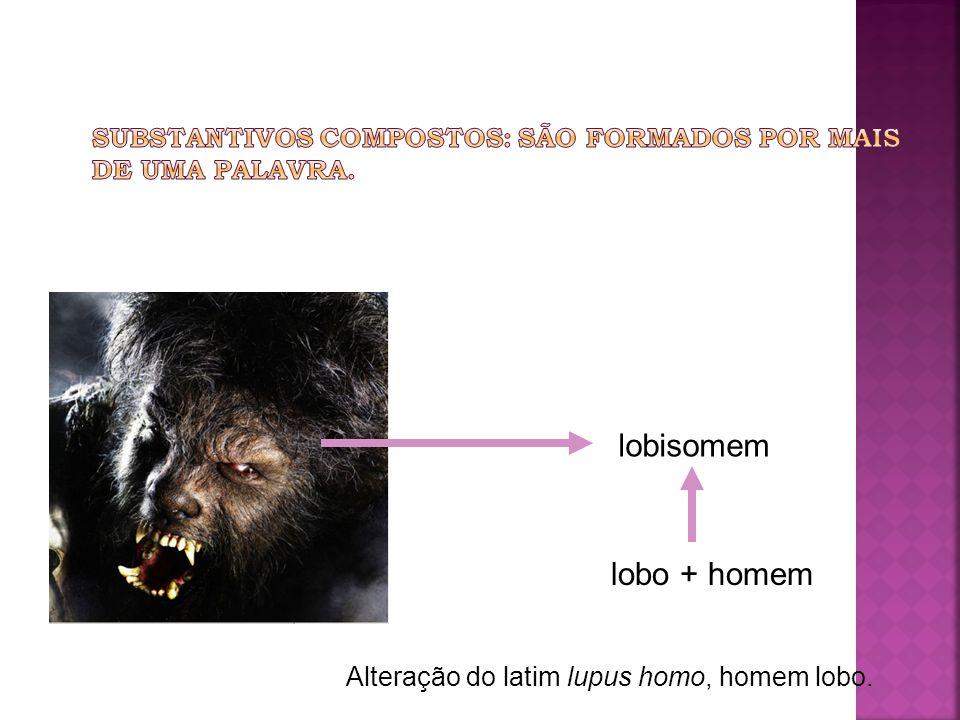 lobisomem lobo + homem Alteração do latim lupus homo, homem lobo.