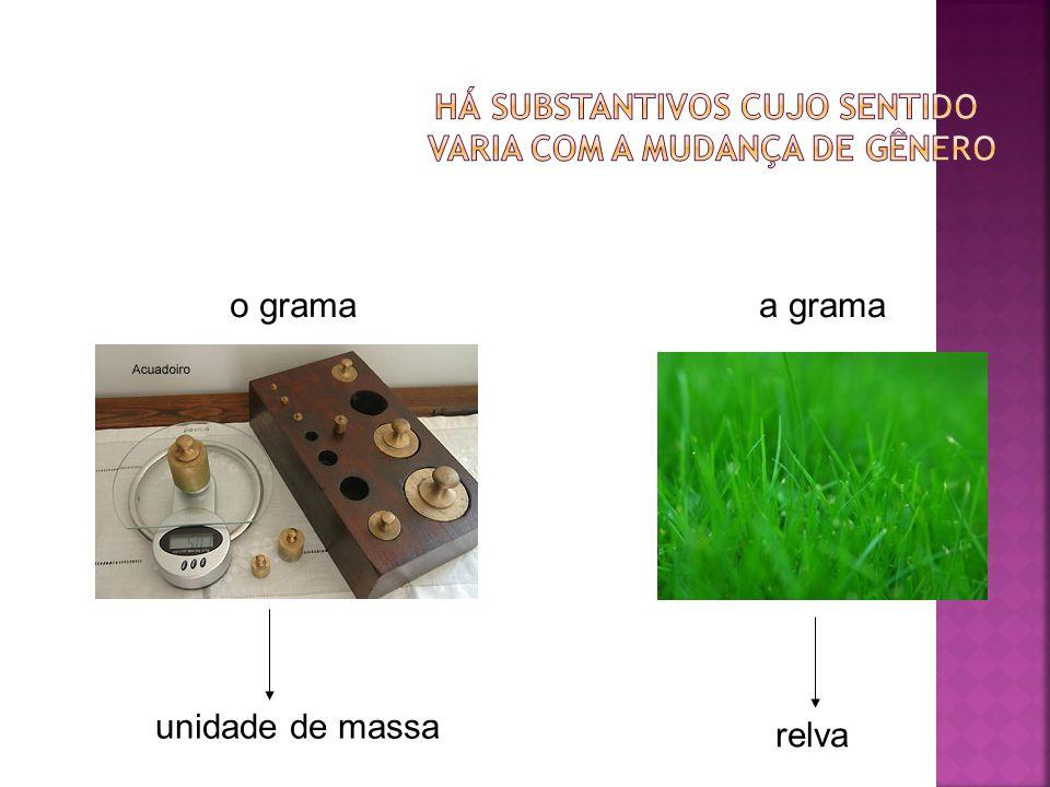 o grama unidade de massa a grama relva