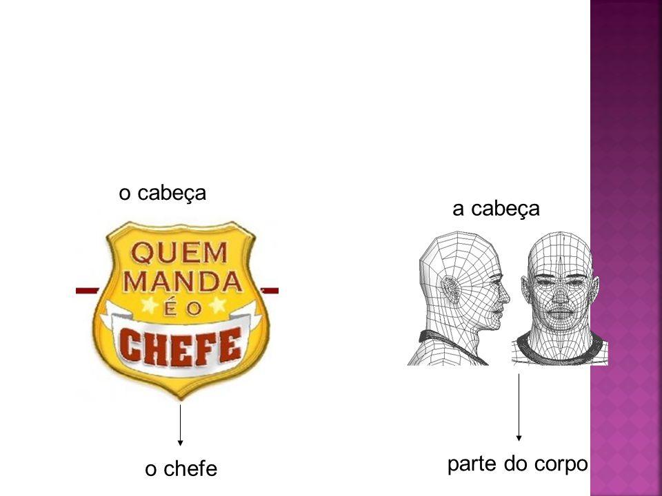 o cabeça o chefe a cabeça parte do corpo