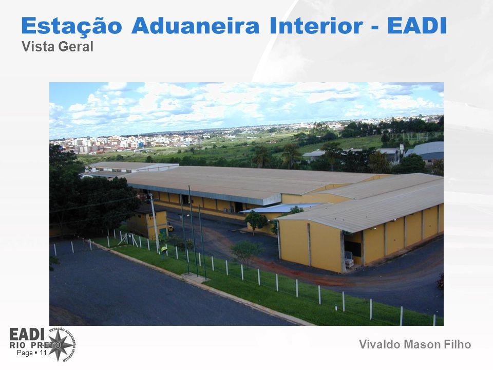 Vivaldo Mason Filho Page 11 Vista Geral Estação Aduaneira Interior - EADI