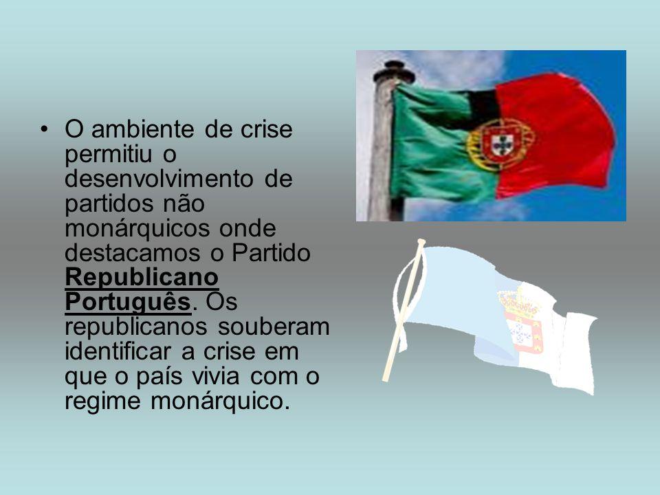 O ambiente de crise permitiu o desenvolvimento de partidos não monárquicos onde destacamos o Partido Republicano Português. Os republicanos souberam i