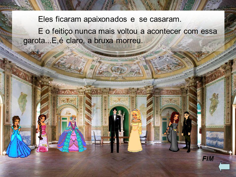 O príncipe ficou apaixonado e encantado por ela. Então, eles foram para um baile no castelo da princesa. - Ai, estou adorando esse baile! – disse a pr