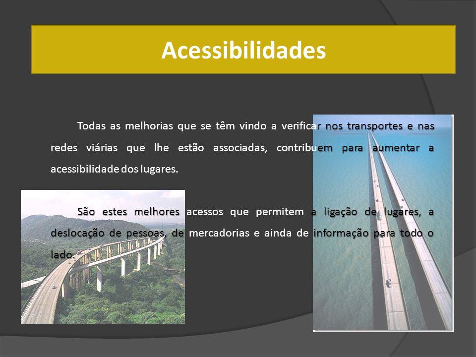 Acessibilidades rnos transportes e nas empara aumentar a Todas as melhorias que se têm vindo a verificar nos transportes e nas redes viárias que lhe e