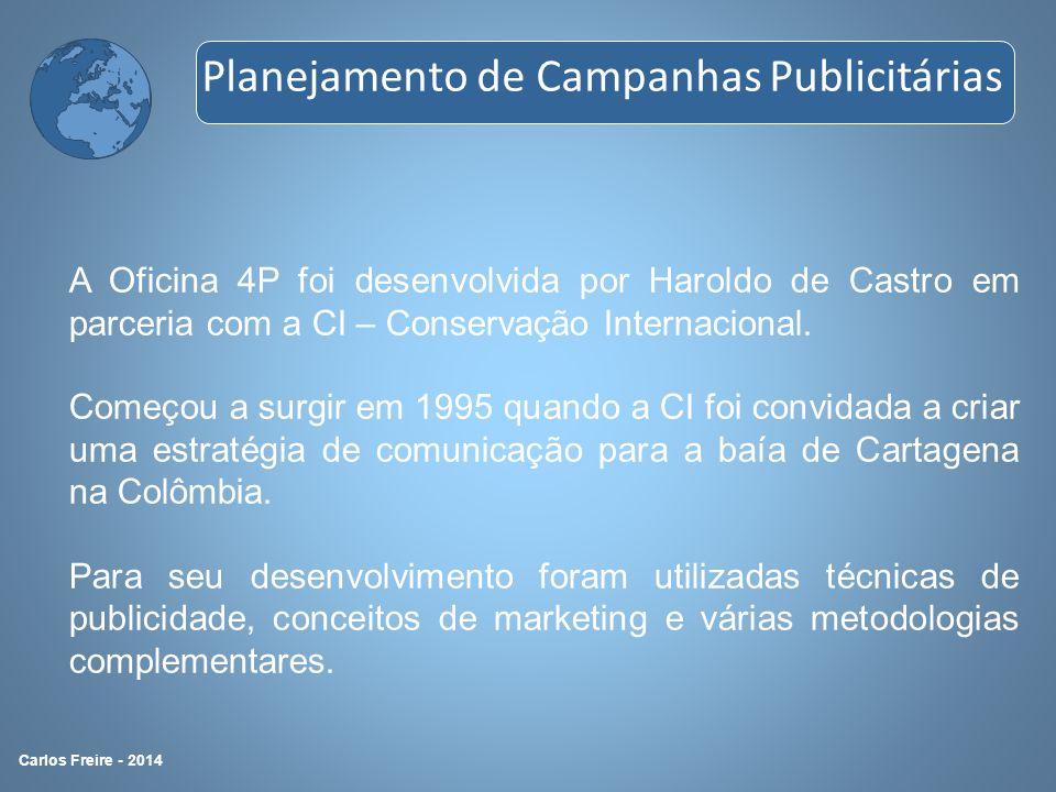 A Oficina 4P foi desenvolvida por Haroldo de Castro em parceria com a CI – Conservação Internacional. Começou a surgir em 1995 quando a CI foi convida