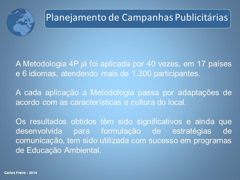 A Metodologia 4P já foi aplicada por 40 vezes, em 17 países e 6 idiomas, atendendo mais de 1.300 participantes. A cada aplicação a Metodologia passa p