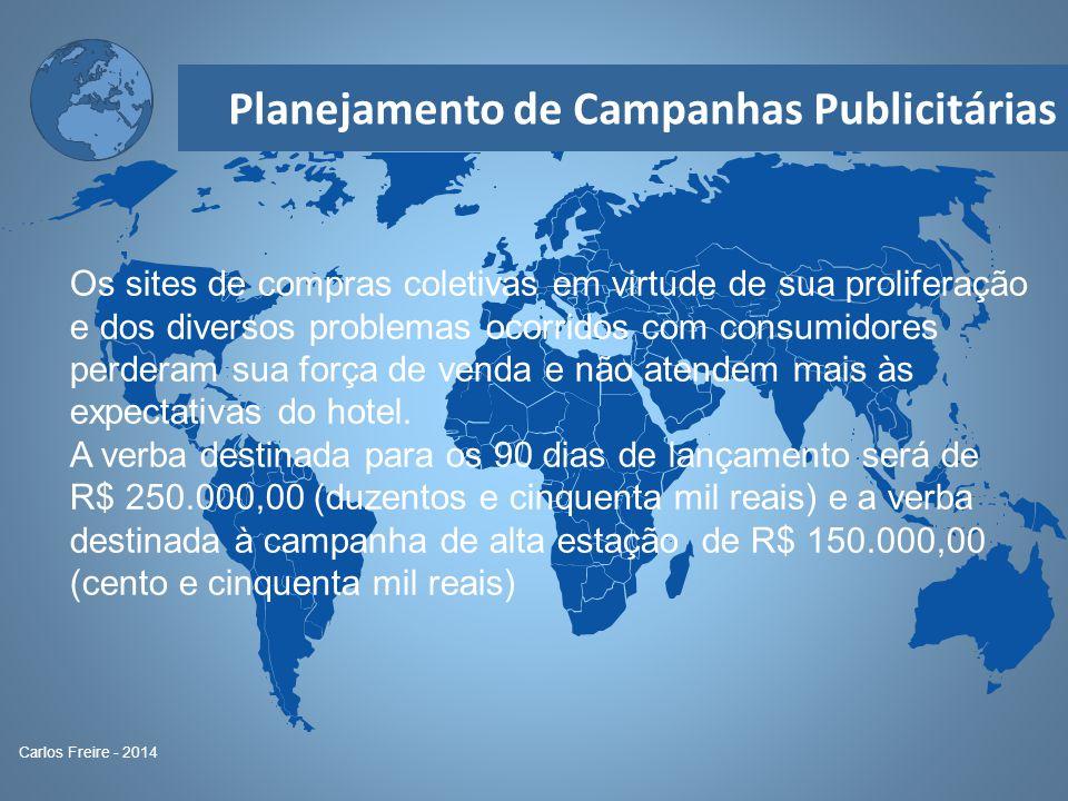 Planejamento de Campanhas Publicitárias Carlos Freire - 2014 Os sites de compras coletivas em virtude de sua proliferação e dos diversos problemas oco