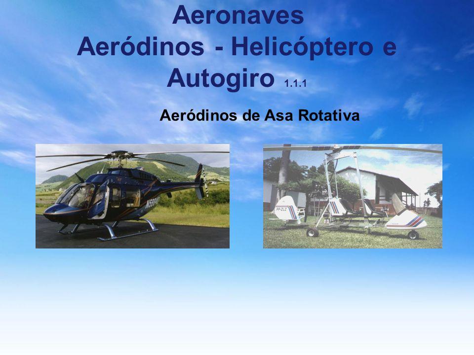 Aeronaves Aeródinos - Helicóptero e Autogiro 1.1.1 Aeródinos de Asa Rotativa