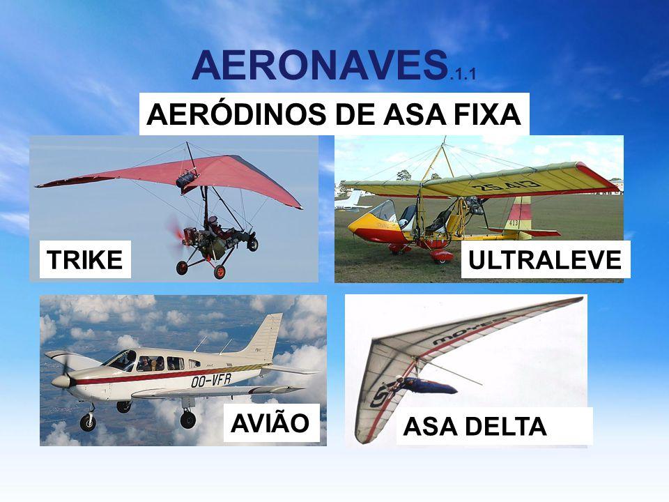 AERONAVES.1.1 ASA DELTA AVIÃO TRIKEULTRALEVE AERÓDINOS DE ASA FIXA