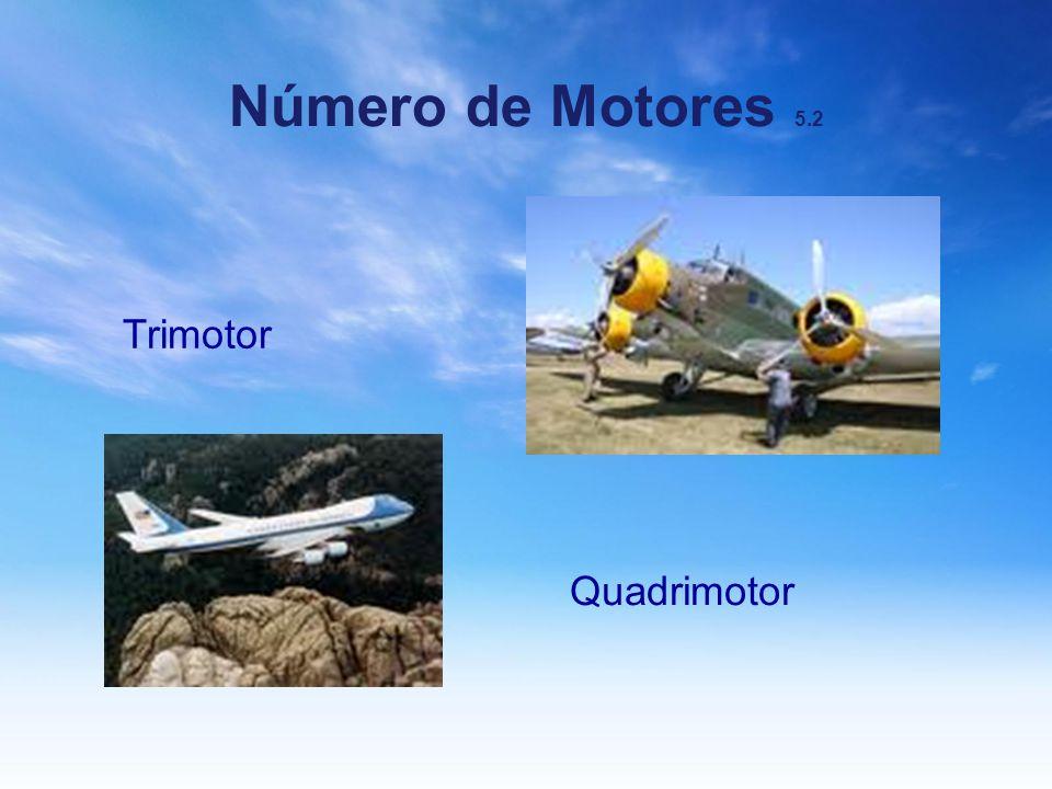 Número de Motores 5.2 Trimotor Quadrimotor