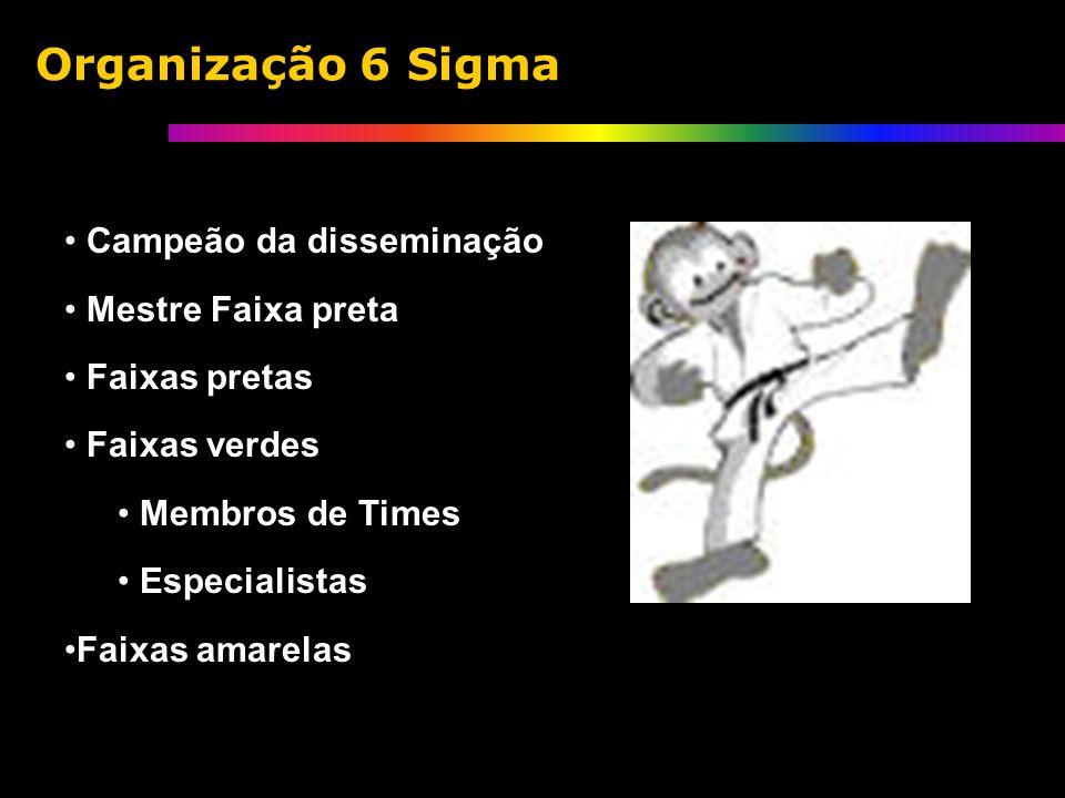 Campeão da disseminação Mestre Faixa preta Faixas pretas Faixas verdes Membros de Times Especialistas Faixas amarelas Organização 6 Sigma